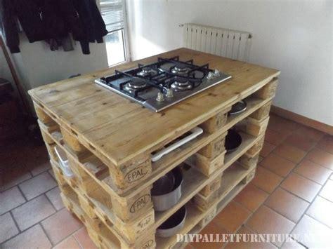 Le Aus Paletten by Comptoir De Cuisine Avec Un Po 234 Le En Palettesmeuble En
