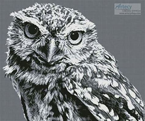 black and white owl pattern black and white owl cross stitch pattern owl