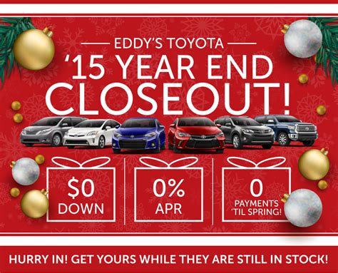 Toyota End Of Year Sale 2015 Toyota Year End Closeout Wichita Ks