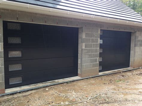Anthracite Sectional Garage Doors With Frosted Windows Sectional Garage Doors