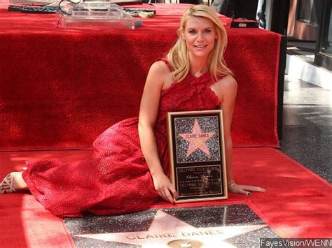 claire danes receives star on hollywood walk of fame with claire danes looks gorgeous in red as she receives star on