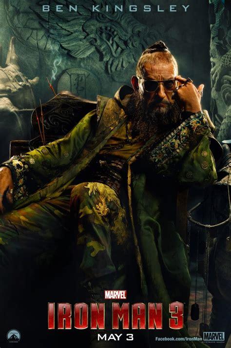 mandarin film oscar new iron man 3 poster shows ben kingsley as the mandarin