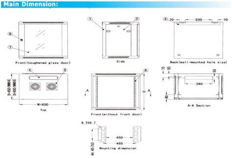 12u Rack Dimensions wm 6615 9001 wall mount rack 19 quot 15u 600wx769hx600d