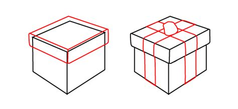 christmas gift boxes drawing