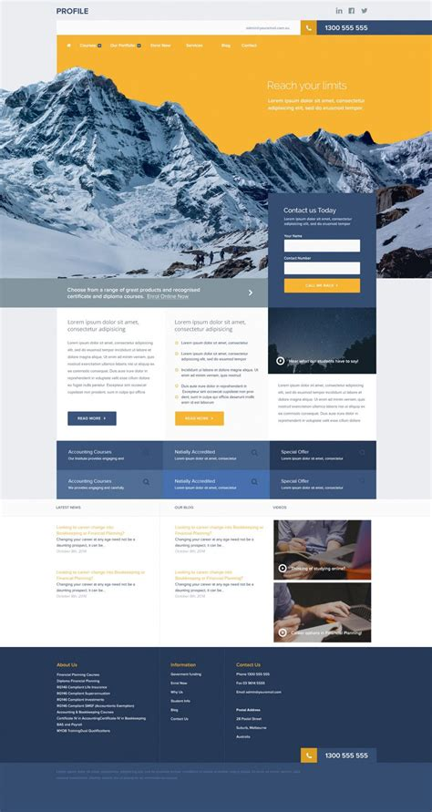 free site templates free corporate and business web templates psd