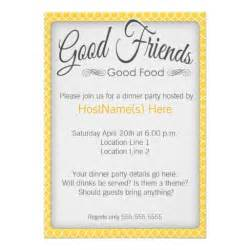dinner party invitations in yellow 5 quot x 7 quot invitation card