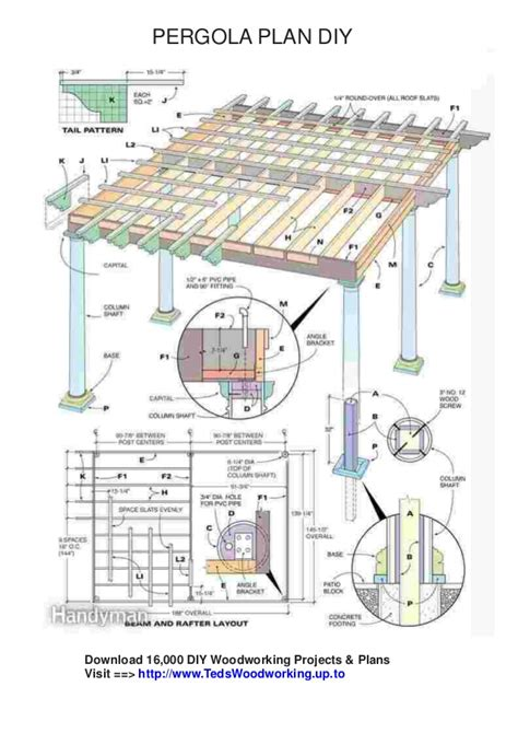 free woodworking project plans pdf free pergola plans pdf