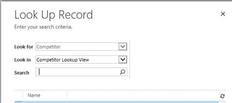 Look Up Records Crm 2013 Manipulate Look Up To Show Entity Record