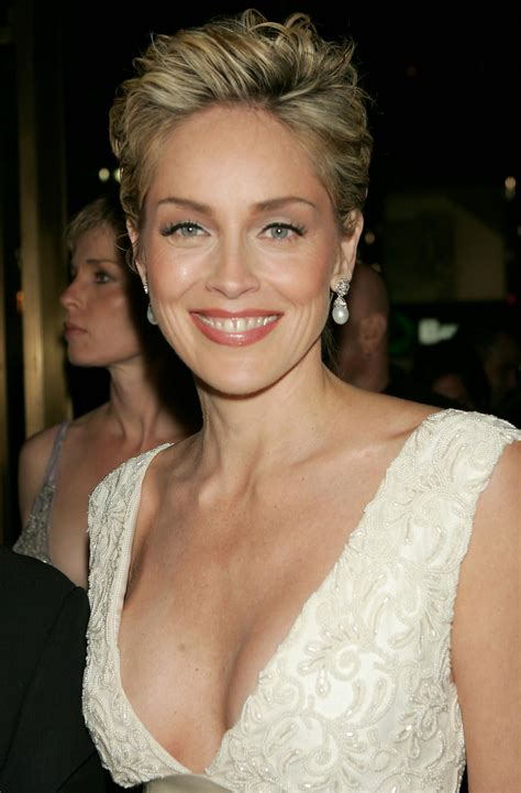 sharon stone hairband sharon stone rocks bikini see her many ageless looks