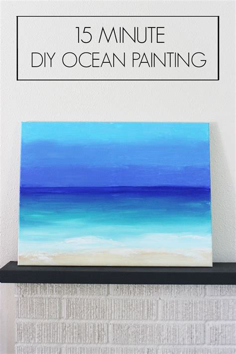 15 painting mistakes to avoid diy diy 15 min ocean painting artzycreations com