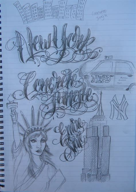 tattoo lettering nyc new york lettering by 12kathylees12 on deviantart
