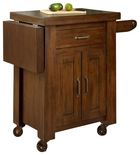 cabin creek wood drop leaf breakfast bar kitchen island home styles cabin creek kitchen cart with side drop leaf