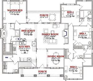 Four Bedroom Bungalow Floor Plan by Bungalow 4 Bedroom House Plans Home Design And Style