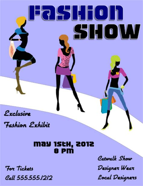 fashion show flyer template images frompo
