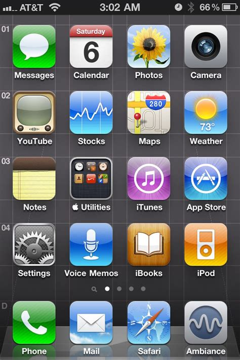 apple tweaked the home screen icon layout in ios 4 2