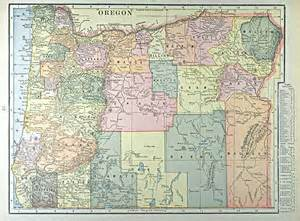 road map of oregon