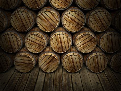Winery Floor Plans by Wall Of Wooden Barrels Stock Photo Colourbox