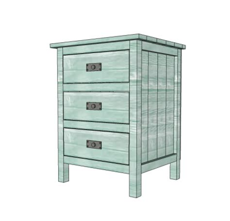 ana white 3 drawer nightstand ana white build a reclaimed wood look bedside table