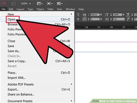 how to add table in indesign with pictures wikihow
