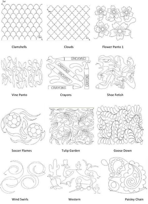 Computerized Longarm Quilting Designs by Longarm Quilting Pattern Book