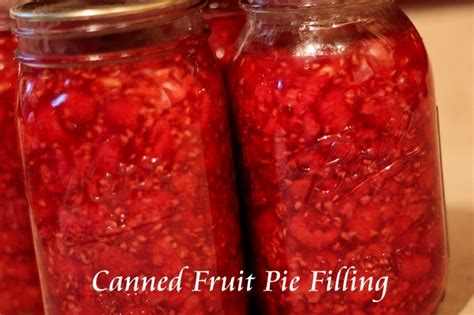 canned fruit pie filling