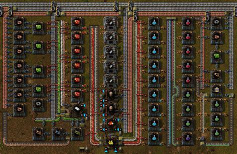 simple rectangular 4x science factory design factorio