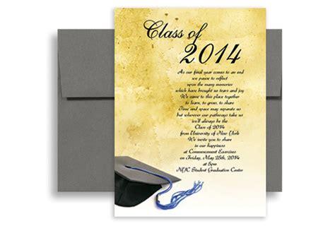 graduation open house invitation templates mes specialist