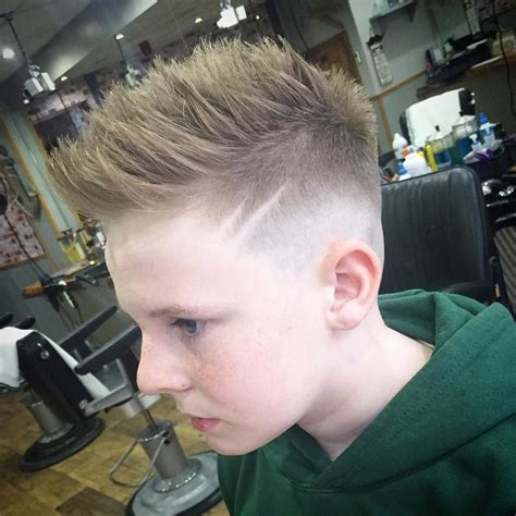 boys haircuts with stripes these cool hairstyles for boys make the most of the thick hair