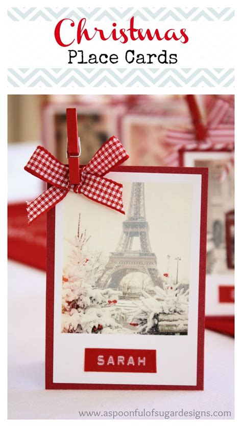 christmas place cards  spoonful  sugar