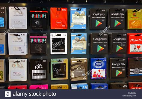 Cards Sale - gift cards on sale in a supermarket stock photo royalty