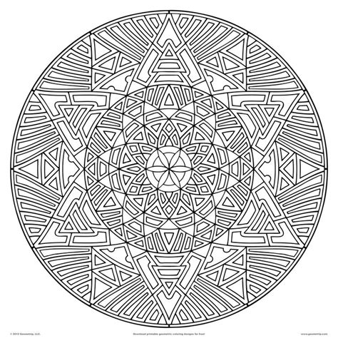 difficult pattern in c difficult geometric design coloring pages download pdf