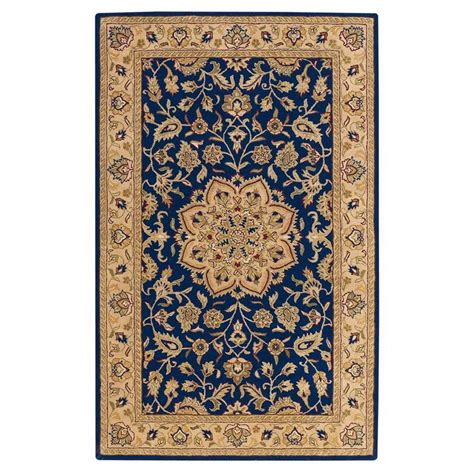 6 ft area rugs home decorators collection earley navy ivory 4 ft x 6 ft area rug 7108205310 the home depot