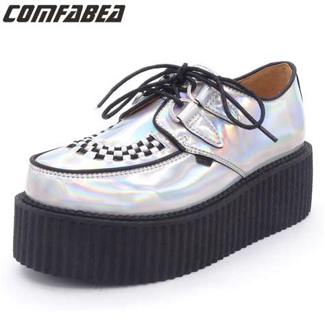 Flat Shoes Nevada Size 40 plus size 34 40 fashion silver laser hologram