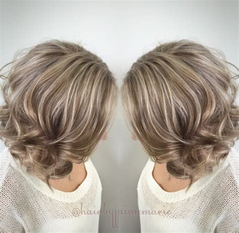 how to do ash ombre highlight on short hair ash blonde bob highlights and lowlights platinum blonde