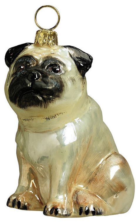 fawn pug ornament traditional christmas ornaments by