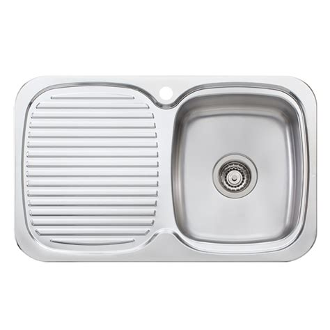 Bunnings Sinks by Oliveri Lakeland Single Bowl Inset Sink With Drainer