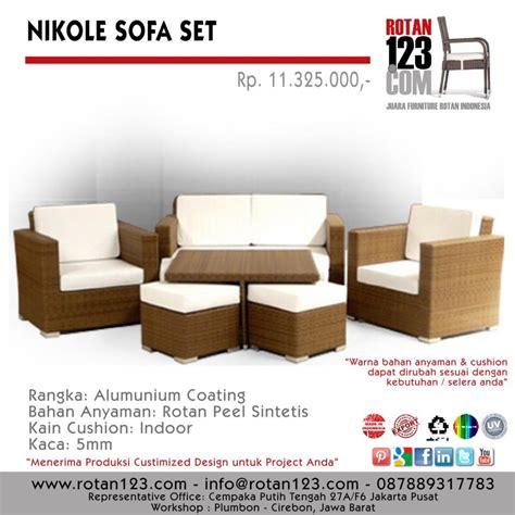 Sofa Anyaman cara jeli memilih furniture rotan sintetis