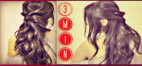 3 min easy amp quick everyday hairstyles half up with