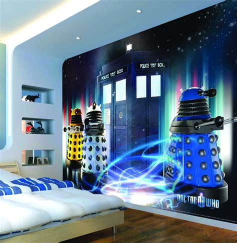 dr who bedroom dr who mural daleks tardis wallsorts