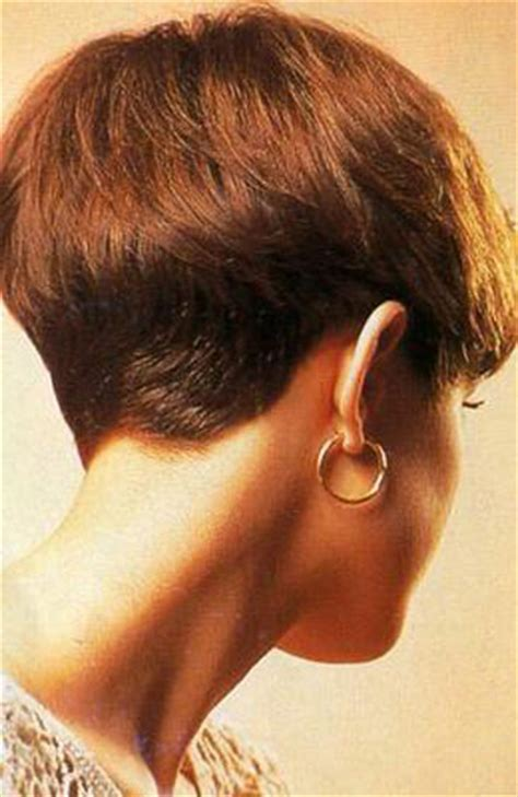 wedge haircut with a weight line hairxstatic short back cropped gallery 1 of 3