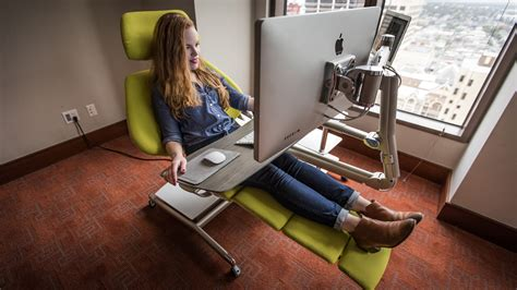 ergonomic lay down desk lie back relax and get to work with the altwork crazy