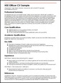 hse officer cv sle myperfectcv