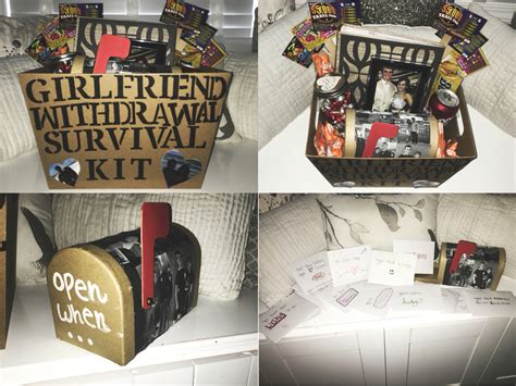 girlfriend withdrawal survival kit and open when letters