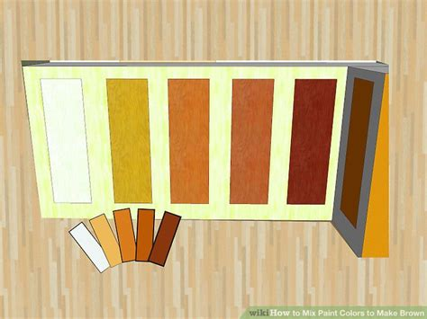 how to mix paint colors how to mix paint colors to make brown 9 steps with pictures