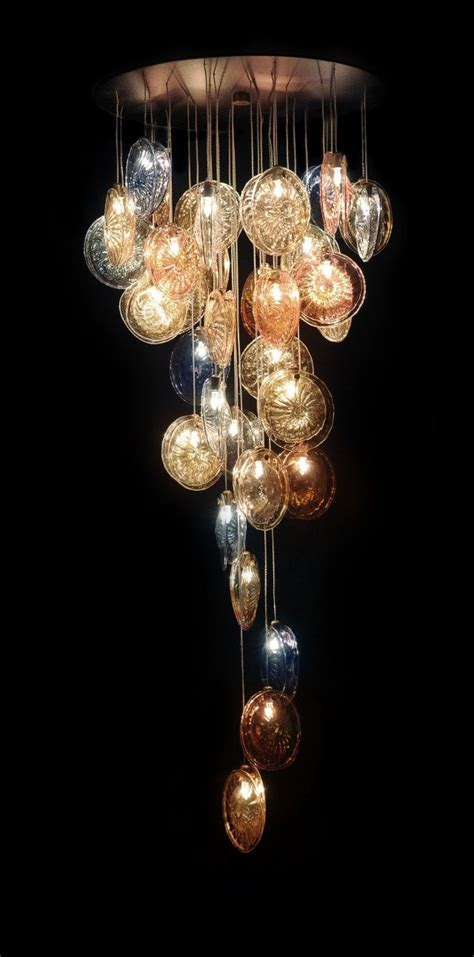 best 25 blown glass chandelier ideas on