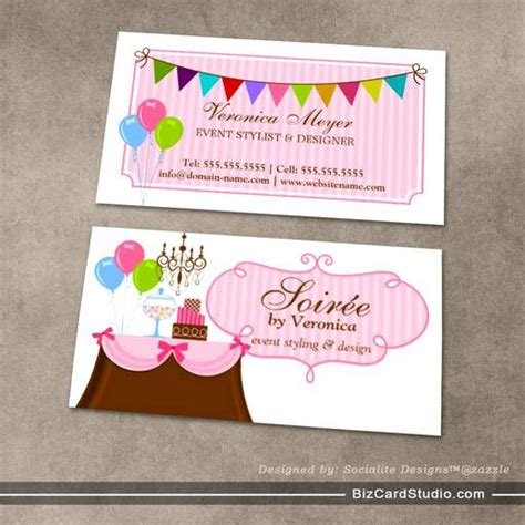 design event card business card templates studio event stylist and design