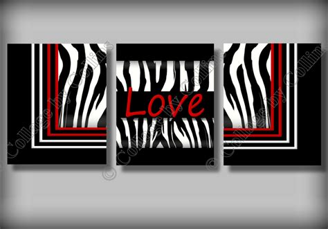Zebra Print Room Decor Zebra Print Wall Decor Room By Collagebycollins