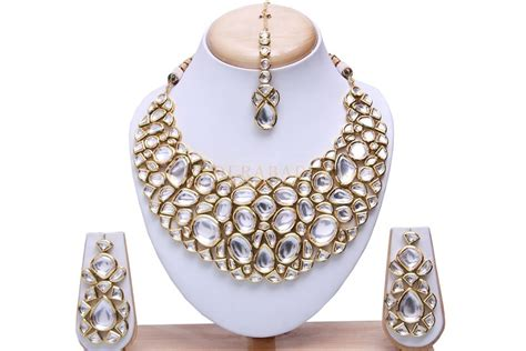 Home Decorators Collection Review by Kundan Gold Tone Bridal Necklace Set Hyderabad Nikah