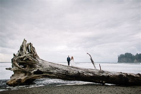 Olympic Peninsula Beach Elopement: Chelsea   Zack   Green