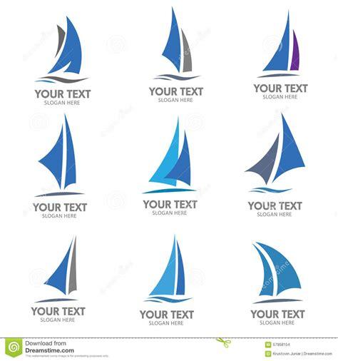dessin bateau laser sailing boat logo vector stock vector illustration of